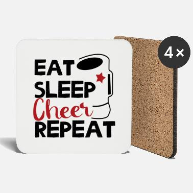 EAT SLEEP CHEER REPETIR - Posavasos