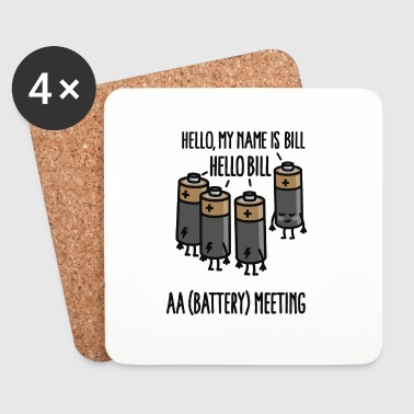 AA Meeting - Hello my name is ... - Battery - Coasters (set of 4)
