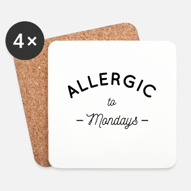 Lundi Allergic to mondays - Dessous de verre (lot de 4)