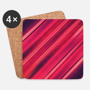 3d Abstract minimal texture (red/black) - Phone case - Underlägg (4-pack)