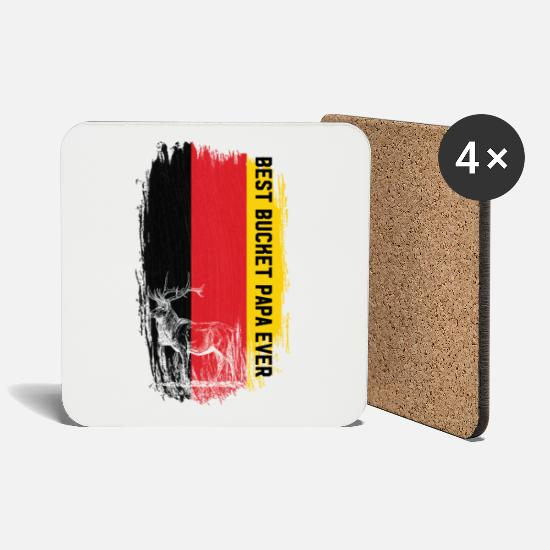 Love Mugs & Drinkware - Germany Flag deer Best Book Papa Ever - Coasters white