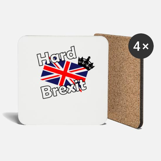 Birthday Mugs & Drinkware - Hard Brexit England - Coasters white