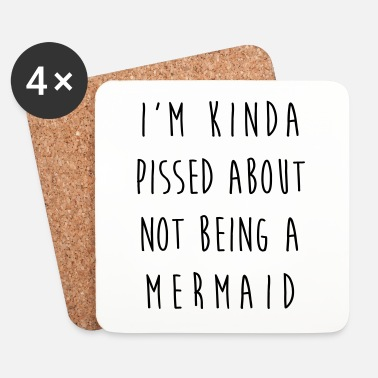 Rude Not Being A Mermaid Funny Quote - Onderzetters (4 stuks)