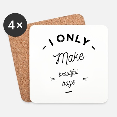 Enceinte I only make boys - Dessous de verre (lot de 4)