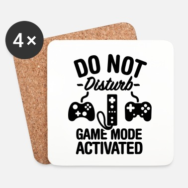 Mode Do not disturb game mode activated - Onderzetters (4 stuks)