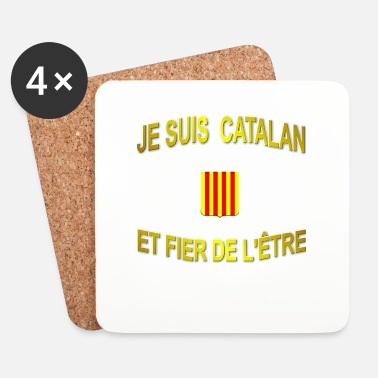 Dés Tee-Shirt supporter du pays CATALAN - Dessous de verre (lot de 4)