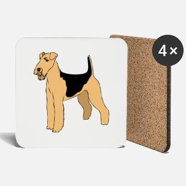 Clipart Airedale Terrier Clipart - Onderzetters