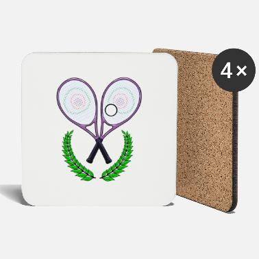 Tennis Tennis tennis racket tennis player - Coasters