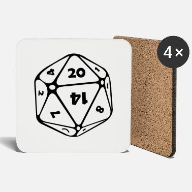 Dodecahedron dice 12 pages - Coasters