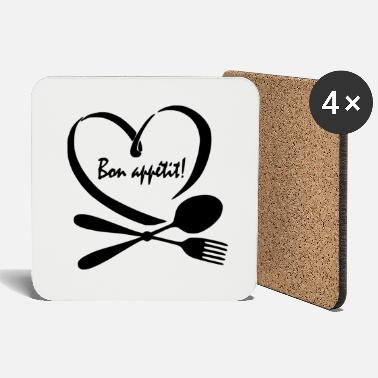 Easy Heart with bon appetit! - Coasters