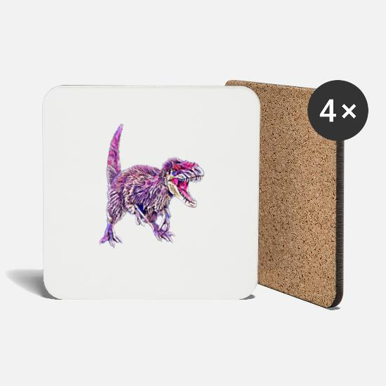 Birthday Mugs & Drinkware - dinosaur - Coasters white