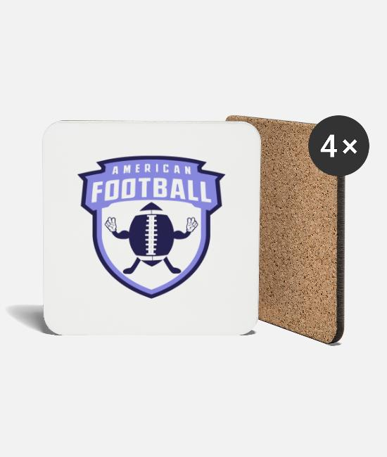 Quarterback Mugs & Drinkware - American Football Banner Peace - Coasters white