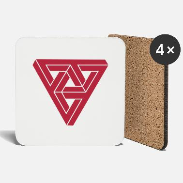 Geek &amp Optical illusion Triangle Minimal Shape - Coasters
