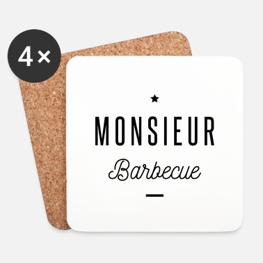 Roi Du Barbecue monsieur barbecue - Dessous de verre (lot de 4)