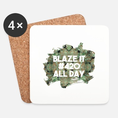 Rasta Blaze it 420 all day - Underlägg (4-pack)