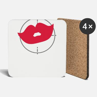 Kussmund Kussmund / kissing lips (1c) - Coasters