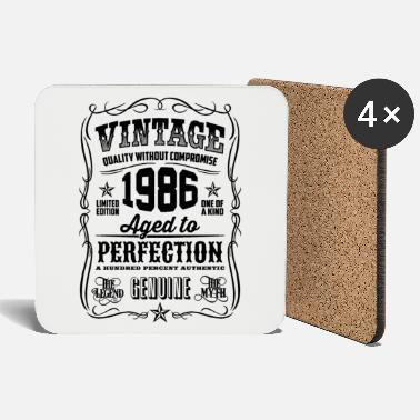 1986 Vintage 32th Birthday gift 32 years old - Coasters