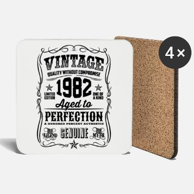 1982 Vintage 36th Birthday gift 36 years old - Coasters