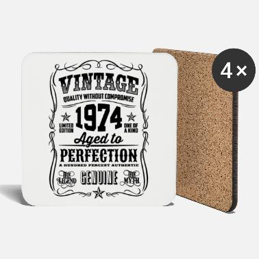 1974 Vintage 44th Birthday gift 44 years old - Coasters