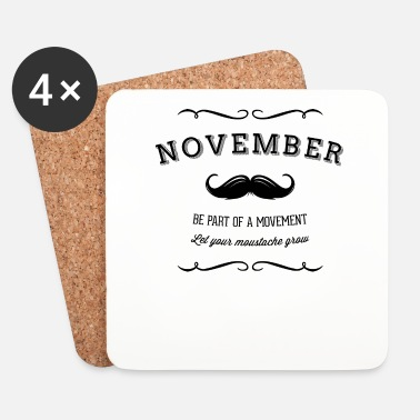 Barbe November Moustache - Dessous de verre (lot de 4)