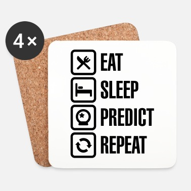 Astrologie Eat Sleep Predict Repeat - Dessous de verre (lot de 4)