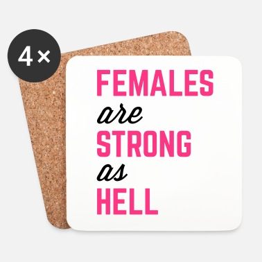 Helle Females Strong Hell Gym Quote - Lasinalustat (4 kpl:n setti)