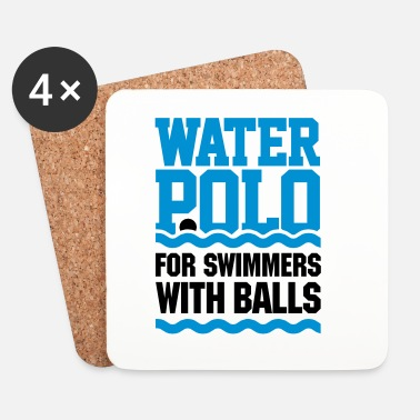 Rugby Water polo for swimmers with balls - pallanuoto - Sottobicchieri (set da 4 pezzi)