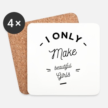 Enceinte i only make girls - Dessous de verre (lot de 4)