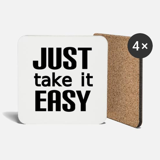 Chill Mugs & Drinkware - Take it easy - Coasters white