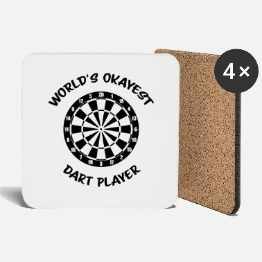 World's Okayest Dart Player - Untersetzer