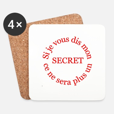 Interdit le secret - Dessous de verre (lot de 4)