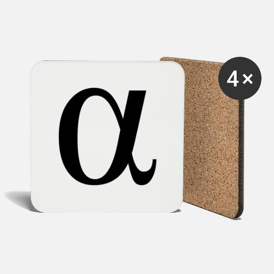 Greek Mugs & Drinkware - alpha greek letter - Coasters white