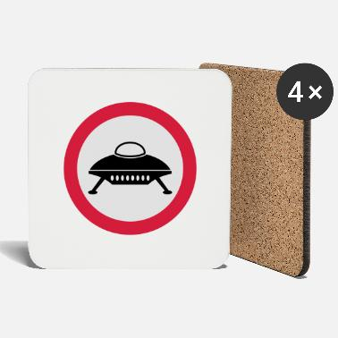 Road Sign road sign spaceship - Coasters