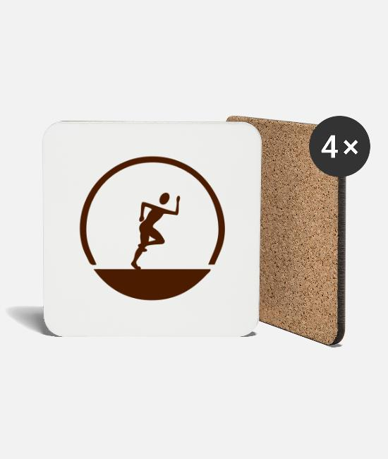 Athletics Mugs & Drinkware - Jogger emblem - Coasters white