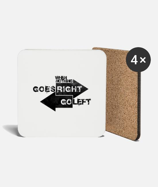 Arrow Mugs & Drinkware - When Nothing Goes Right.. - Coasters white