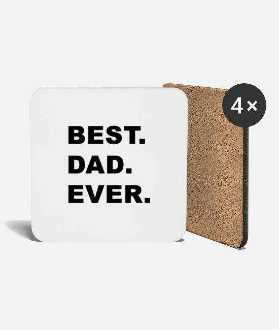 Father's Day Mugs & Drinkware - Best. Dad. Ever. - Coasters white