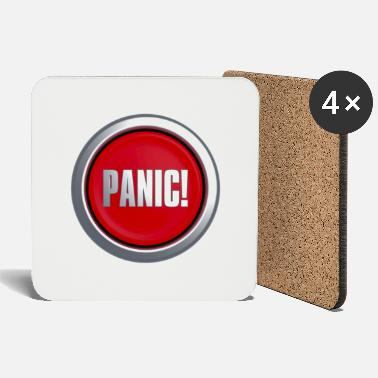 Key Button Panic Button - Coasters