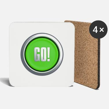 Key Button Go Button - Coasters