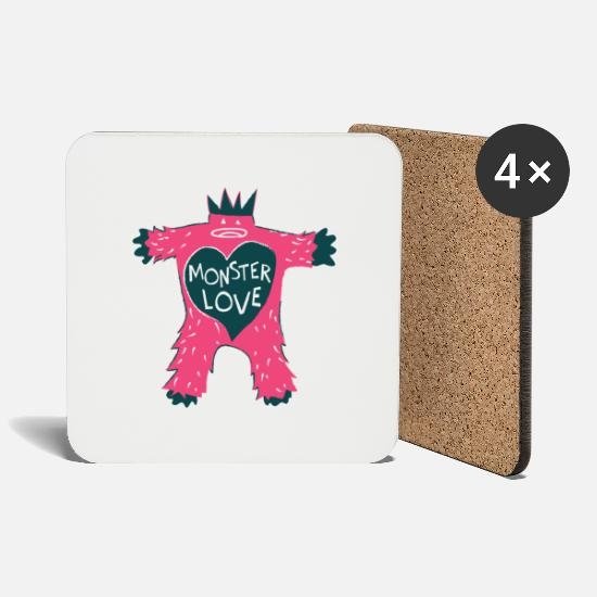 Love Mugs & Drinkware - Monster of Love - Coasters white