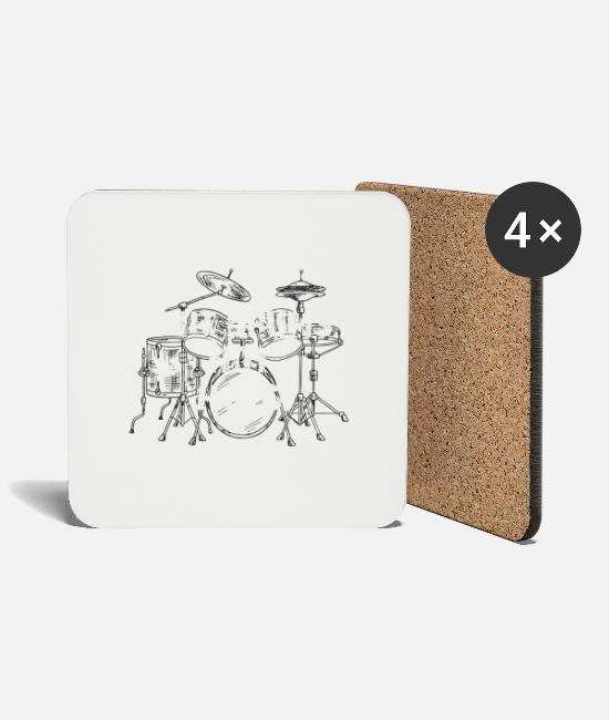 Bass Mugs & Drinkware - Drummer cool sayings - Coasters white