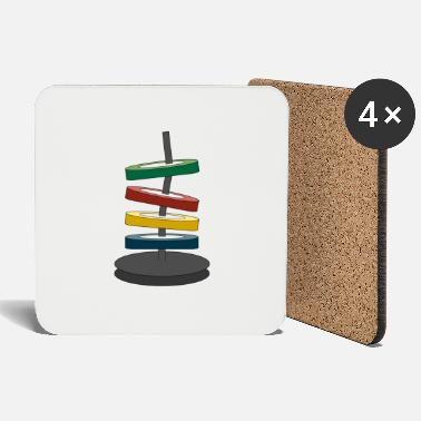 Coloured disks - Coasters