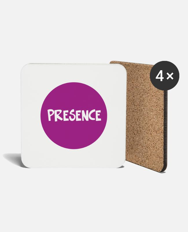 Contemporary Philosophy Mugs & Drinkware - Presence - Coasters white