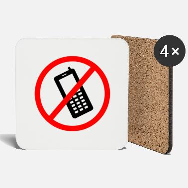 Prohibited Cellphone prohibited - Coasters