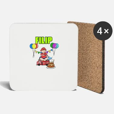 Filip Firefighters Filip Gift - Coasters