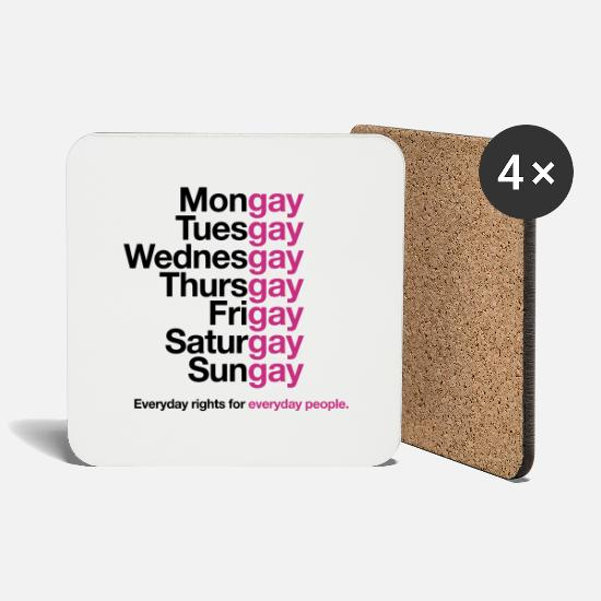 Love Mugs & Drinkware - Rights - Coasters white