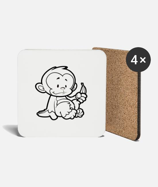 Wild Mugs & Drinkware - Cheeky Monkey - Coasters white