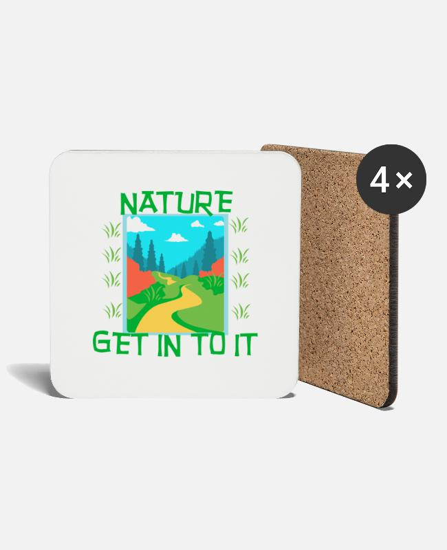 Nature Mugs & Drinkware - NATURE - Get in to it - Coasters white