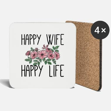 Wife Happy wife happy life - Untersetzer