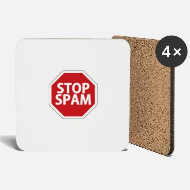 Spam Stop Spam - street sign - Coasters
