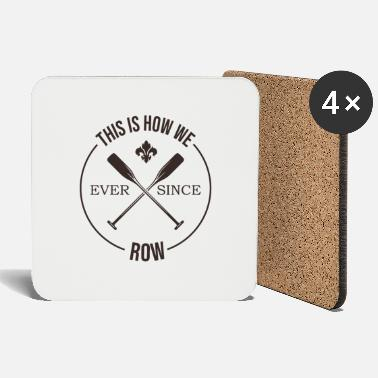 Competitive Sports Rowing rower sports competition club paddle logo - Coasters